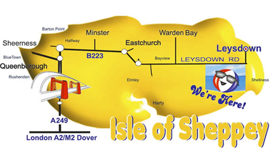 isle of sheppey map