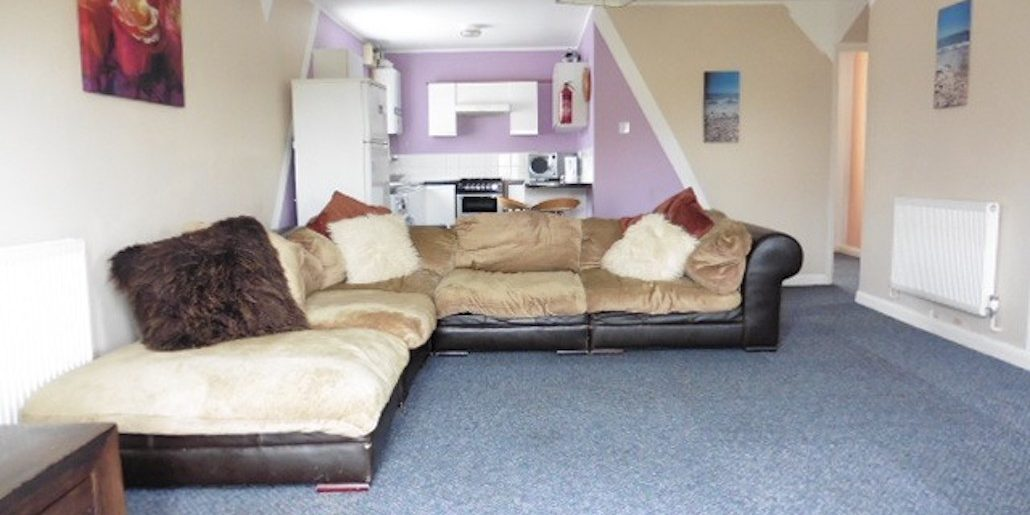 Lounge view of chalet lhs 36 with fluffy cushions