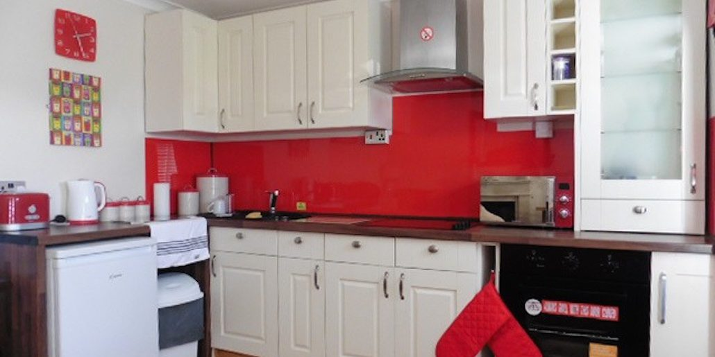 Inside view of chalet 39 kitchen